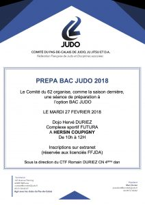 PRÉPA-BAC @ DOJO HERVÉ DURIEZ @ HERSIN