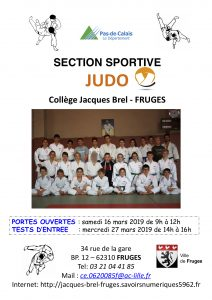 Tests d'Entrée Section JUDO Collège de Fruges