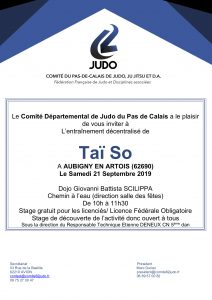 Taïso départemental à Aubigny @ Aubigny en Artois