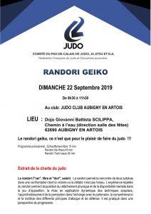 Randori Geïko à Aubigny en Artois @ Aubigny en Artois