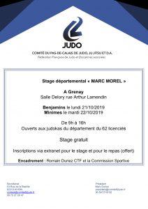 Stage départemental Marc Morel Benjamins (es) à Grenay