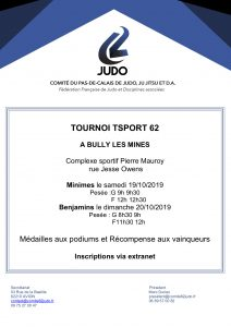 Tournoi TSPORT Benjamins (es) du 62 à BULLY