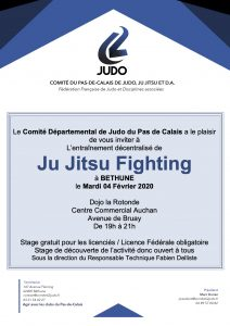 Entraînement départemental jujitsu fighting @ Béthune