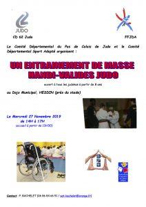 Entraînement judo et personnes en situation de handicap @ Hesdin