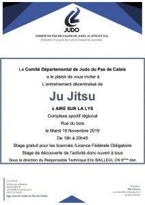 Entraînement départemental Jujitsu @ Aire sur la Lys