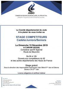 Stage compétiteurs C/J/S à CARVIN