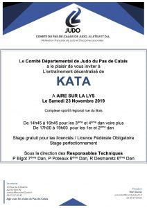 Entraînement départemental KATA @ Aire sur la Lys