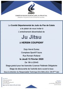 Entraînement départemental Jujitsu @ Hersin Coupigny