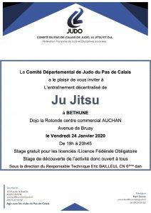 Entraînement départemental Jujitsu @ Béthune
