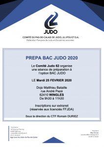 PREPA BAC JUDO Séance de préparation à l'option BAC JUDO