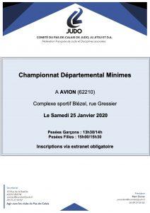 Championnat départemental Minimes à Avion