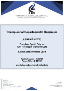 Championnat départemental Benjamins (es) à Calais